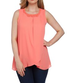 Roman Originals Embellished Neck Top
