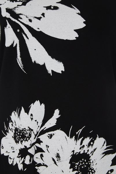 Roman Originals Monochrome Floral Print Top