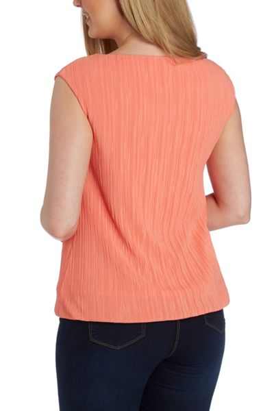 Roman Originals Sleeveless Pleated Top