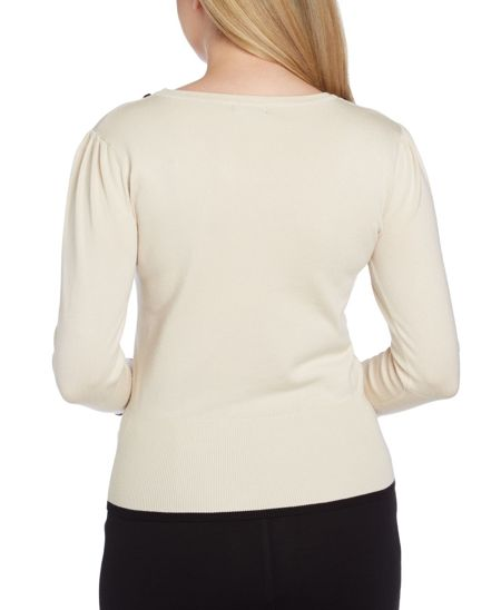 Roman Originals Contrast Bow Embellished Jumper