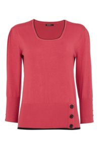 Roman Originals Contrast Button Detail Jumper