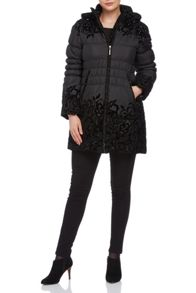 Roman Originals Quilted Flock Parka Coat