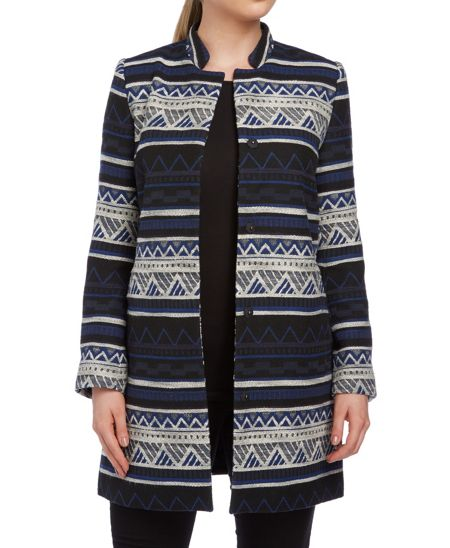 Roman Originals Jacquard Patterned Coat