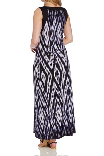 Roman Originals Ikat Print Maxi Dress