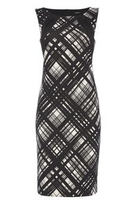 Roman Originals Abstract Linear Print Dress