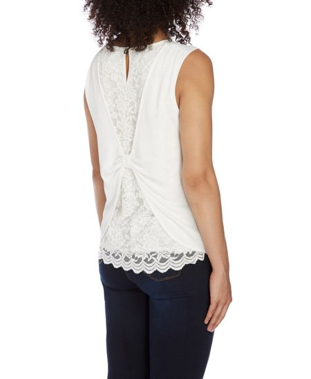 Roman Originals Lace Back Detail Top