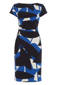 Roman Originals Abstract Leaf Print Jersey Dress