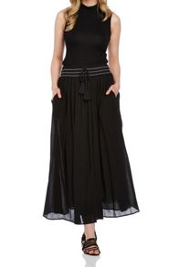 Roman Originals Plain Cotton Maxi Skirt