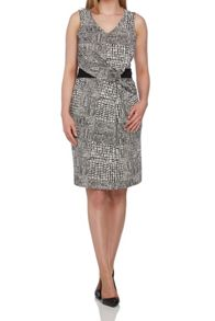 Roman Originals Printed Waist Wrap Dress