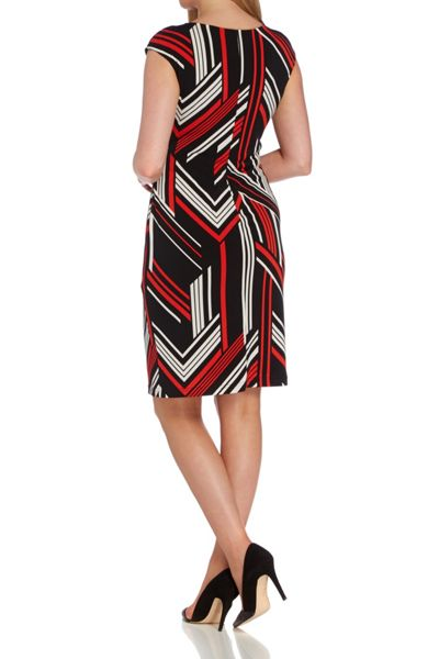 Roman Originals Abstract Line Print Jersey Dress