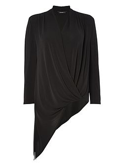 Asymmetric Wrap Top