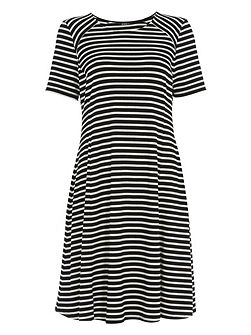 Stripe Jersey Swing Dress