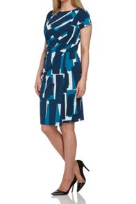 Roman Originals Abstract Print Dress