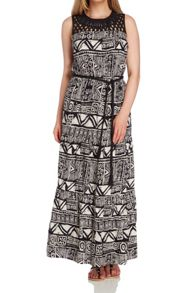 Roman Originals Aztec Print Maxi Dress