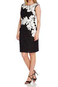 Roman Originals Contrast Tapework And Lace Dress