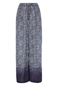 Roman Originals Printed Palazzo Trousers