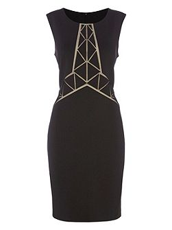 Geometric Laser Cut Dress