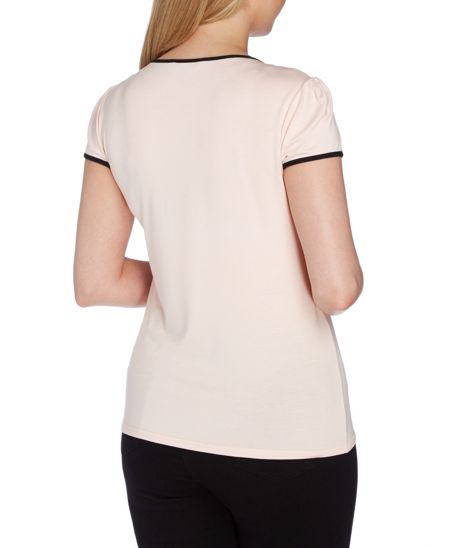 Roman Originals Contrast Bow Detail Top