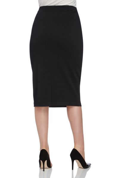 Roman Originals Textured Pencil Skirt