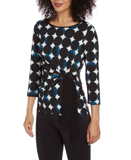 Roman Originals Spot Print Side Tie Top
