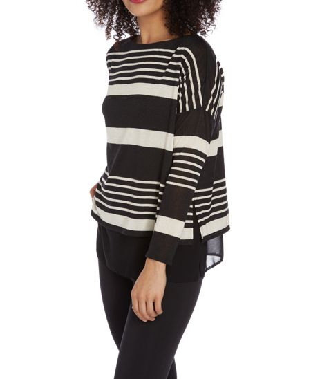 Roman Originals Stripe Double Layer Top