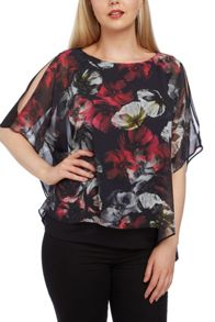 Roman Originals Chiffon Overlayer Top