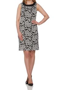 Roman Originals Lace Embellished Neck Shift Dress