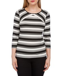 Roman Originals 3/4 Sleeve Stripe Top