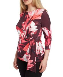 Roman Originals Floral Side Tie Top