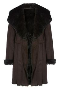 Roman Originals Faux Shearling Coat
