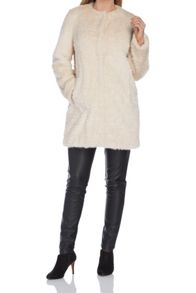 Roman Originals Textured Faux Fur Coat