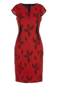 Roman Originals Contrast Jacquard Detail Dress