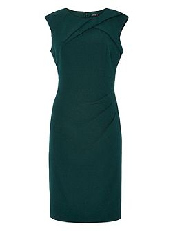 Crepe Dress With Pleat Detail