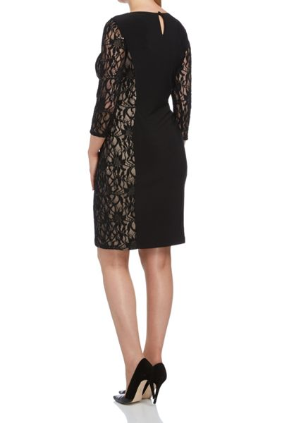 Roman Originals Jersey and Lace Contrast Dress