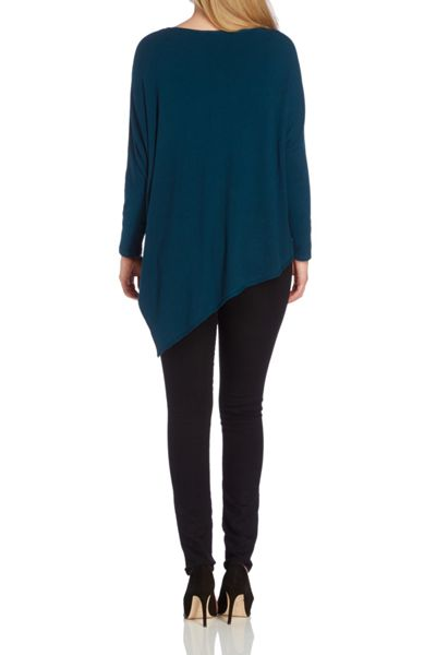 Roman Originals Teal Asymmetric Jumper