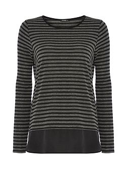 Contrast Hem Striped Jumper