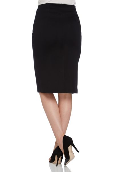 Roman Originals Ponte Zipped Pencil Skirt