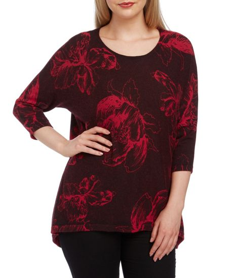 Roman Originals Floral Print Knitted Tunic