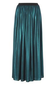 Roman Originals Metallic Maxi Skirt
