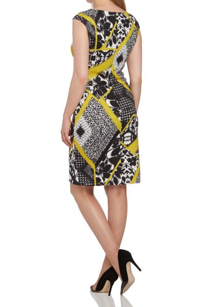 Roman Originals Scuba Abstract Print Shift Dress