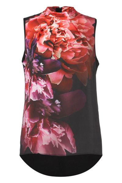 Roman Originals Floral Bloom Roll Neck Top