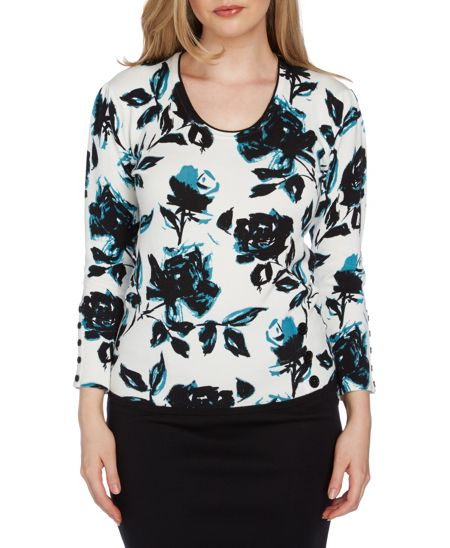 Roman Originals Floral Print Jumper
