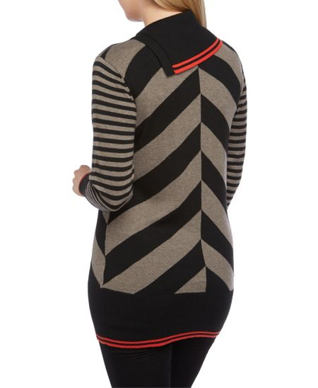 Roman Originals Colour Block Chevron Jumper