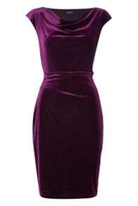 Roman Originals Cowl Neck Velvet Dress