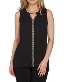 Roman Originals Embellished Sleeveless Top