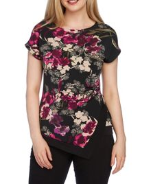 Roman Originals Print Asymetric Top