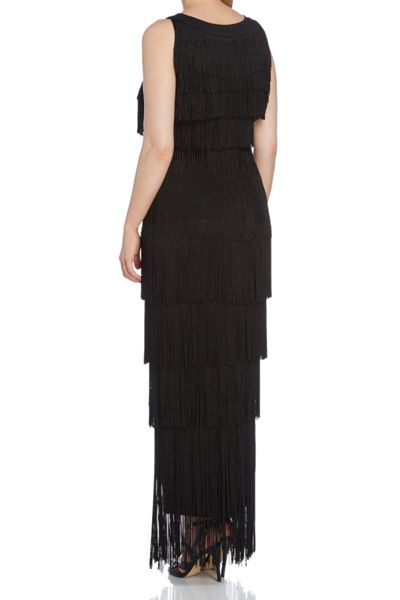 Roman Originals Sequinned Neck Fringe Dress