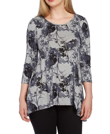 Roman Originals Floral Print Swing Top