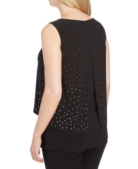 Roman Originals Embellished Double Layer Shell Top