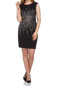 Roman Originals Contrast Embellished Scuba Dress